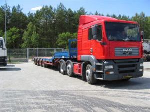 Аренда низкорамного трала 40 тонн